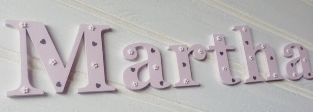 Children's wooden wall letters at www.gifts-r-us.com