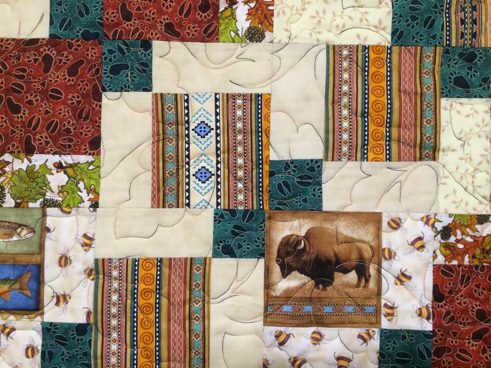 Leslie St. Onge's Rocky Mountain Wildlife Quilt