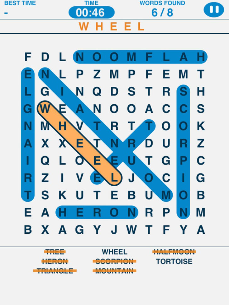 Word Search Puzzles App iTunes App By IceMochi - FreeApps.ws