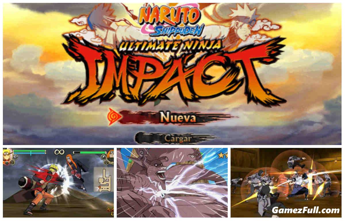 Naruto Ultimate Ninja Impact psp español mega