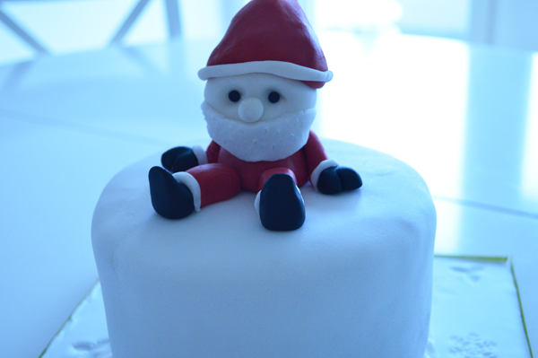 result of the cake class: Christmas cake with Santa Claus