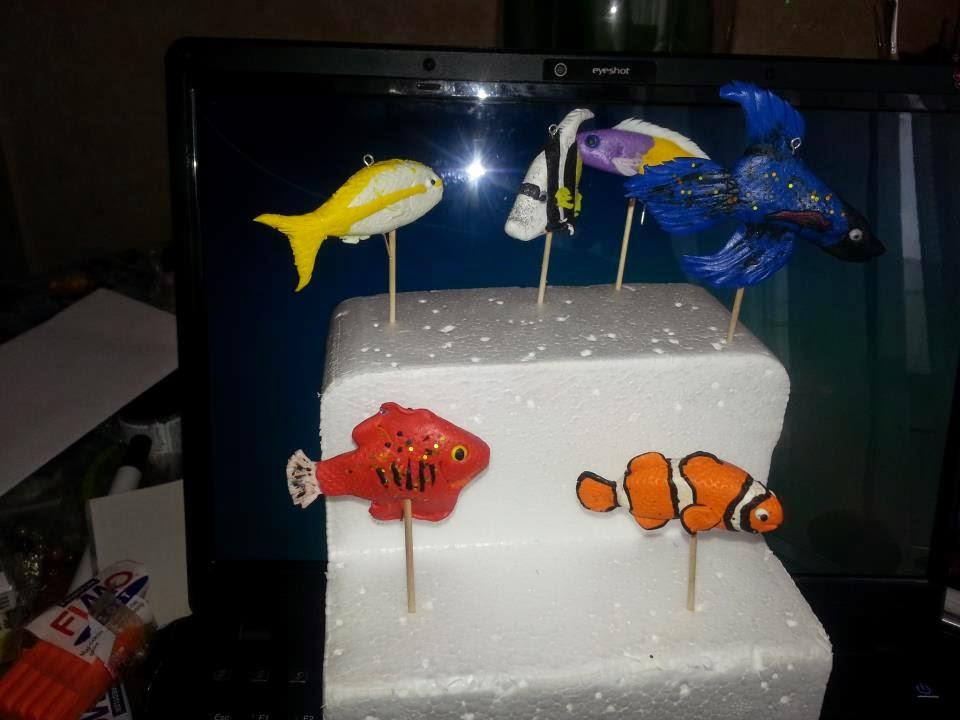 Fimo creazioni di stella ideedistella progetto acquario for Oggetti per acquario
