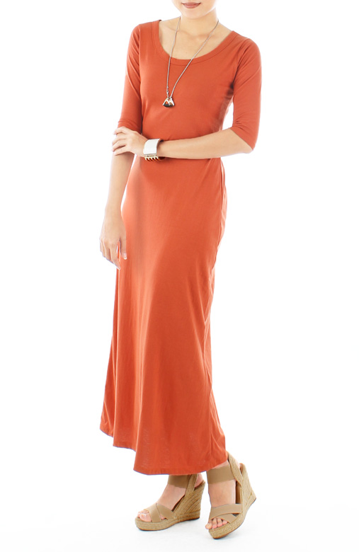 Gypsetter Maxi Dress in Salamander Orange