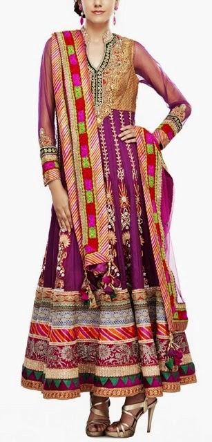 Mehndi Designs Churidar : Long frocks pakistani dresses mehndi designs