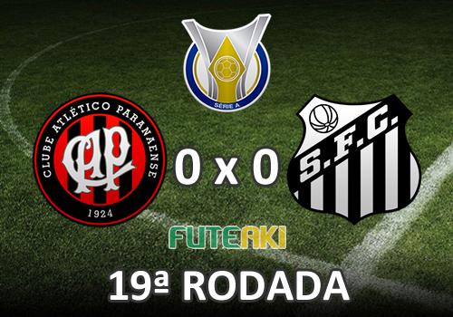 Veja o resumo da partida com os melhores momentos de Atlético-PR 0x0 Santos pela 18ª rodada do Brasileirão 2015