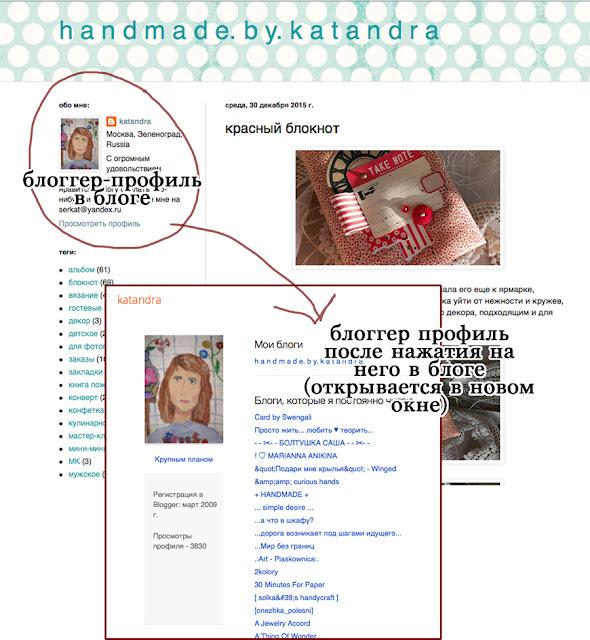 профиль блоггера