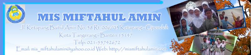 Madrasah Ibtidaiyah (MI) Miftahul Amin  Kota Tangerang