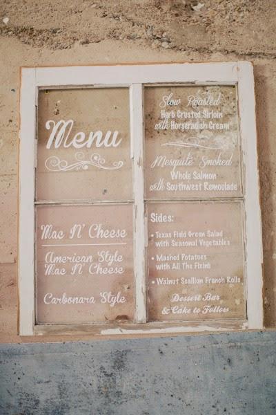 menu na mesa