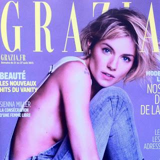 Ginette NY Bague carré or rose bijoux rock Grazia publication
