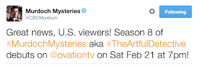 Murdoch Mysteries aka The Artful Detective Coming to USA
