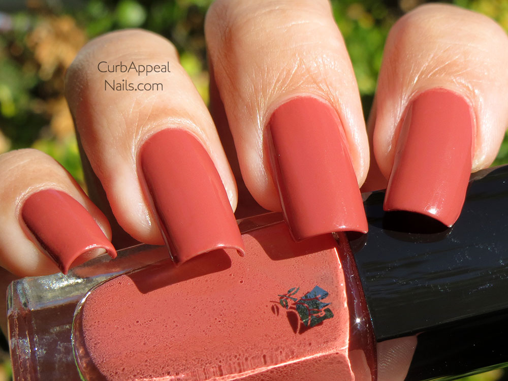 Lancome Vernis in Love 350M Rose Thé Swatches
