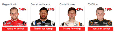 Dash for Cash Drivers, Wallace Jr., Dillon, Smith, and Suarez Dash for Cash Drivers, Wallace Jr., Dillon, Smith, and Suarez (#nascar)