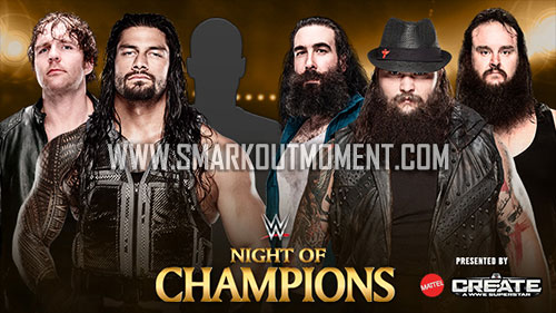 WWE Night of Champions 2015 Baron Corbin Shield Braun Strowman Wyatt Family