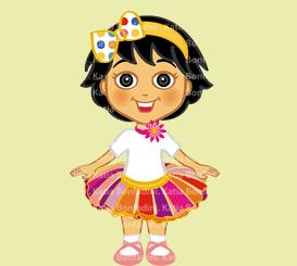 TAINAH vestida de bailarina circense no primeiro aniversário. Cliente: mamãe Priscila Machado