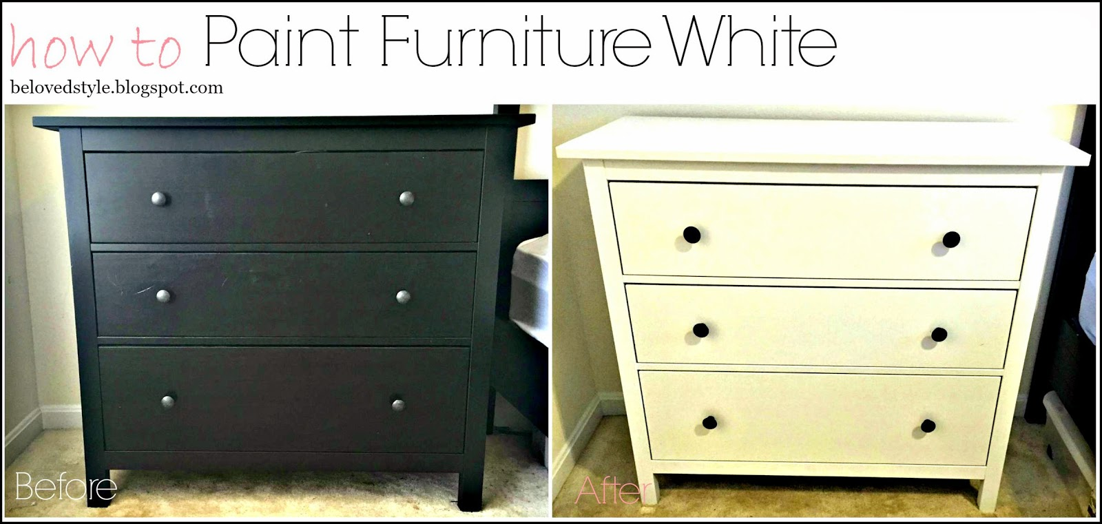 painting furniture whiteBeloved Style How to Paint Furniture White