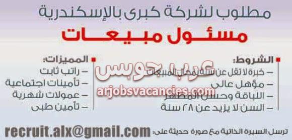 وظائف مسئول مبيعات في الاسكندرية