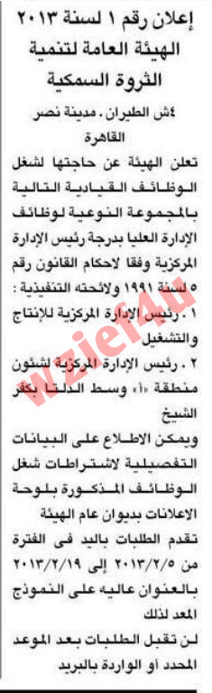 وظائف جريدة الأهرام السبت 2 فبراير 2013 -وظائف مصر السبت 2-2-2013
