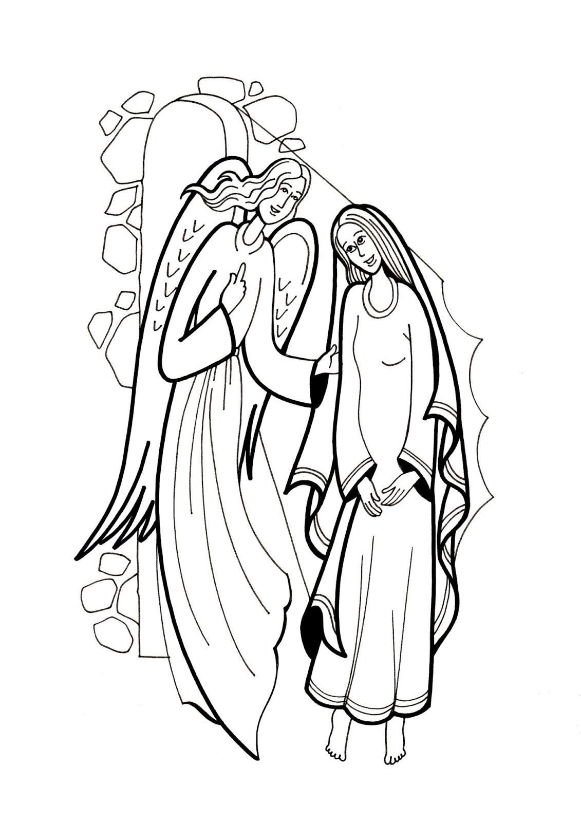 El Rincón de las Melli: DIBUJO: La Anunciación a María