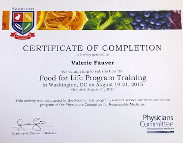 Certified PCRM Food For Life instructor in Utah