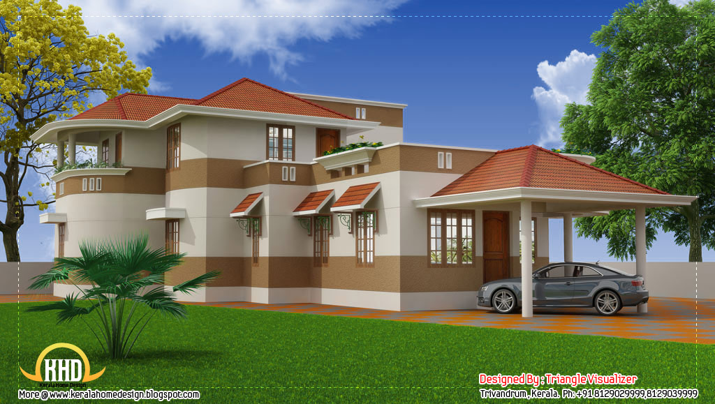 Beautiful modern traditional kerala home 2325 sq ft for Modern house in kerala