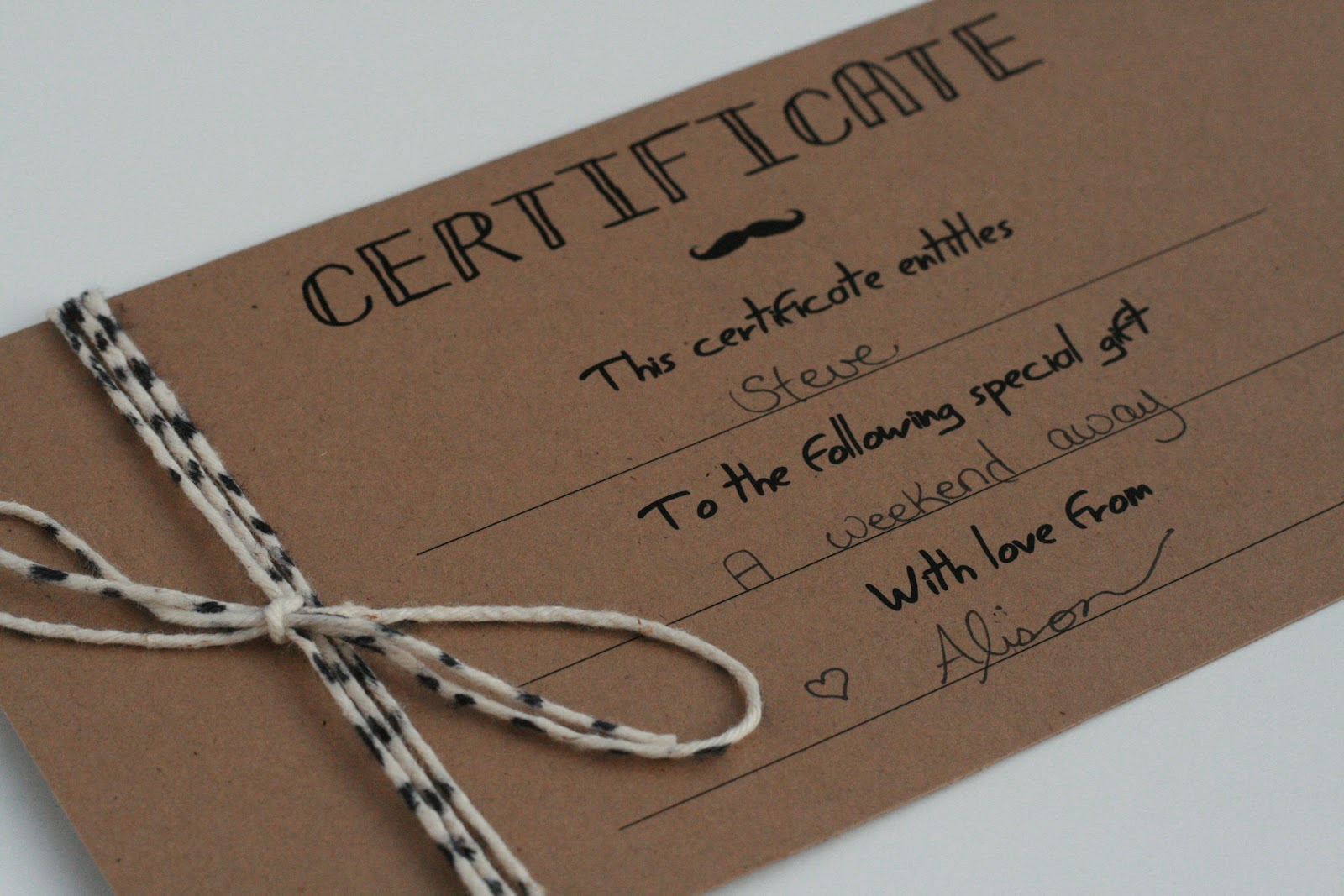 The petit cadeau printable gift certificates for men if you want to embellish your gift certificate i followed the diy bakers twine tutorial from a step in the journey to make my own bakers twine yelopaper Image collections