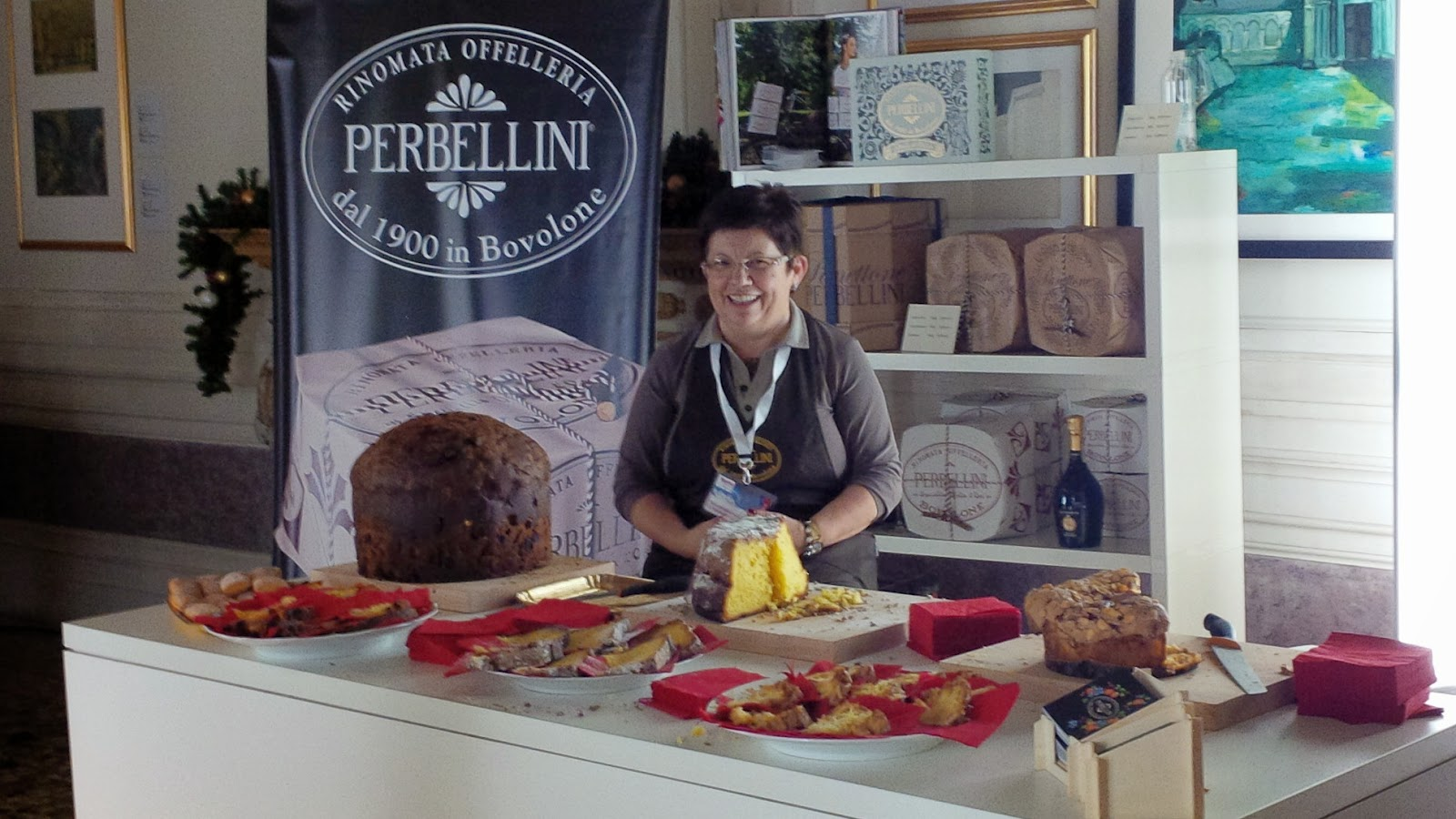The booth of Perbellini at Taste of Christmas event