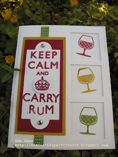 Keep Calm and Carry Rum Card by Ida Chan