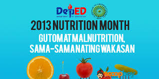 Gutom at Malnutrisyon, Sama-sama Nating Wakasan Slogan