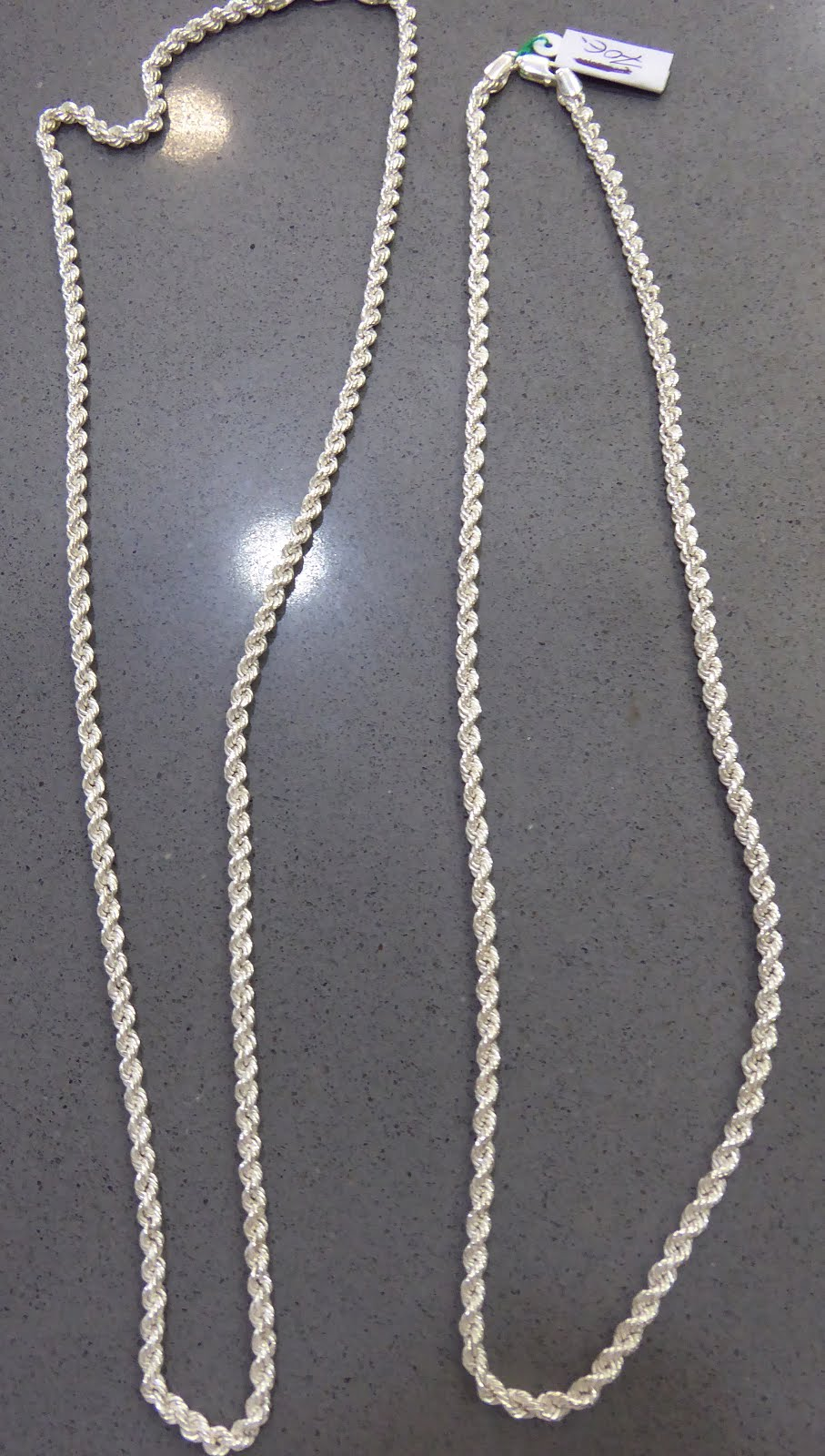 Cadenas tipo cordón