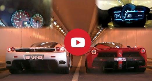 LaFerrari vs Ferrari Enzo moteurs sons - Fou bataille