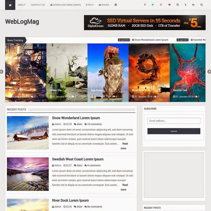 WeblogMag Free Responsive Blogger Templates