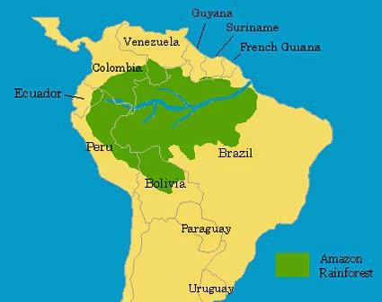amazon jungle map  biolfishinfo