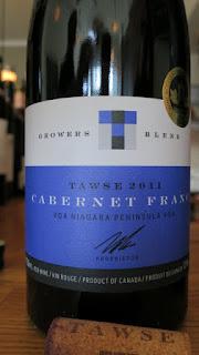 Tawse Grower's Blend Cabernet Franc 2011 - VQA Niagara Peninsula, Ontario, Canada (90 pts)