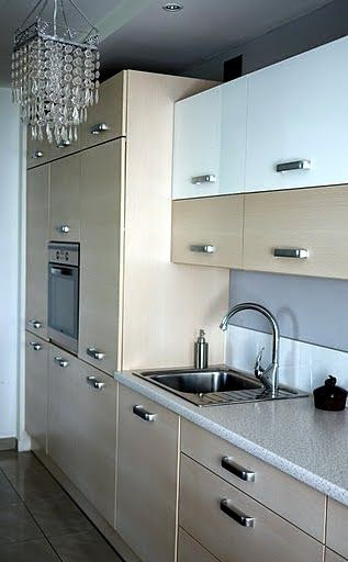 Muebles de cocina en dos colores - Cocina para dos ...