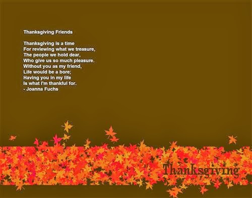 Best Short Thanksgiving Poems For Friends