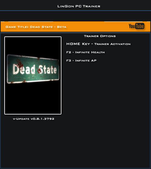 Dead State v0.8.1.3792 Beta Trainer +2 [LinGon]