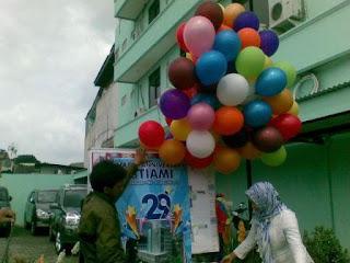 balon gas untuk pelepasan