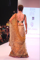 Aditi Rao Hydari walk the ramp for Dipti & Amisha at IIJW-2013