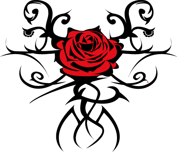 Tatouage Rose Mondialtatouage  - modele tatouage rose rouge