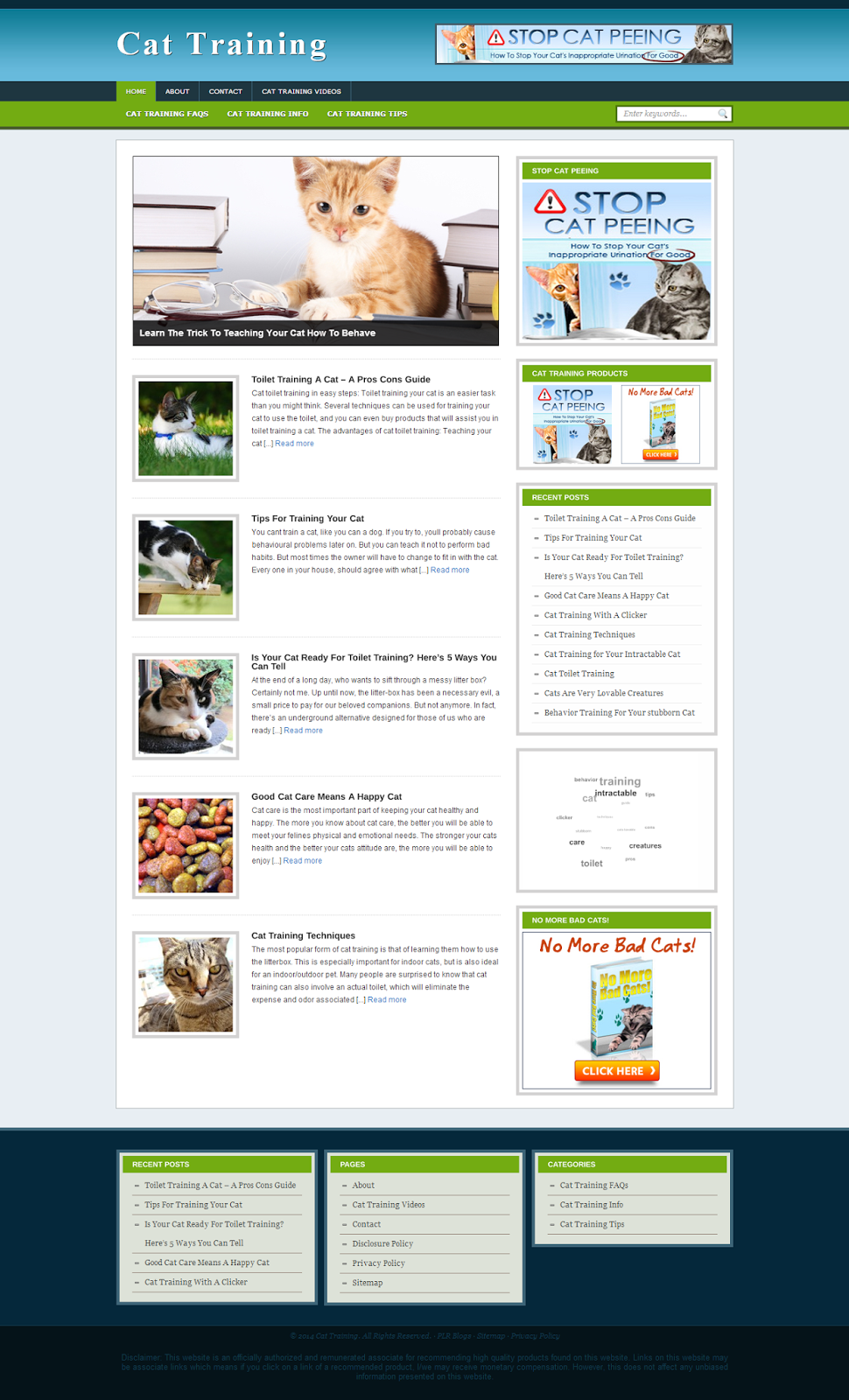 cat training wp site