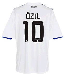 Real Madrid jersey: Ozil number 10