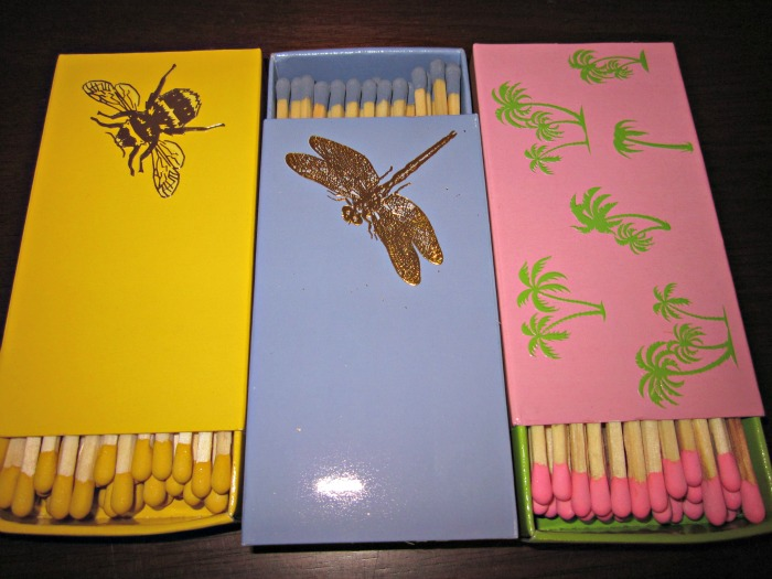 adorable matchbooks via Design Darling