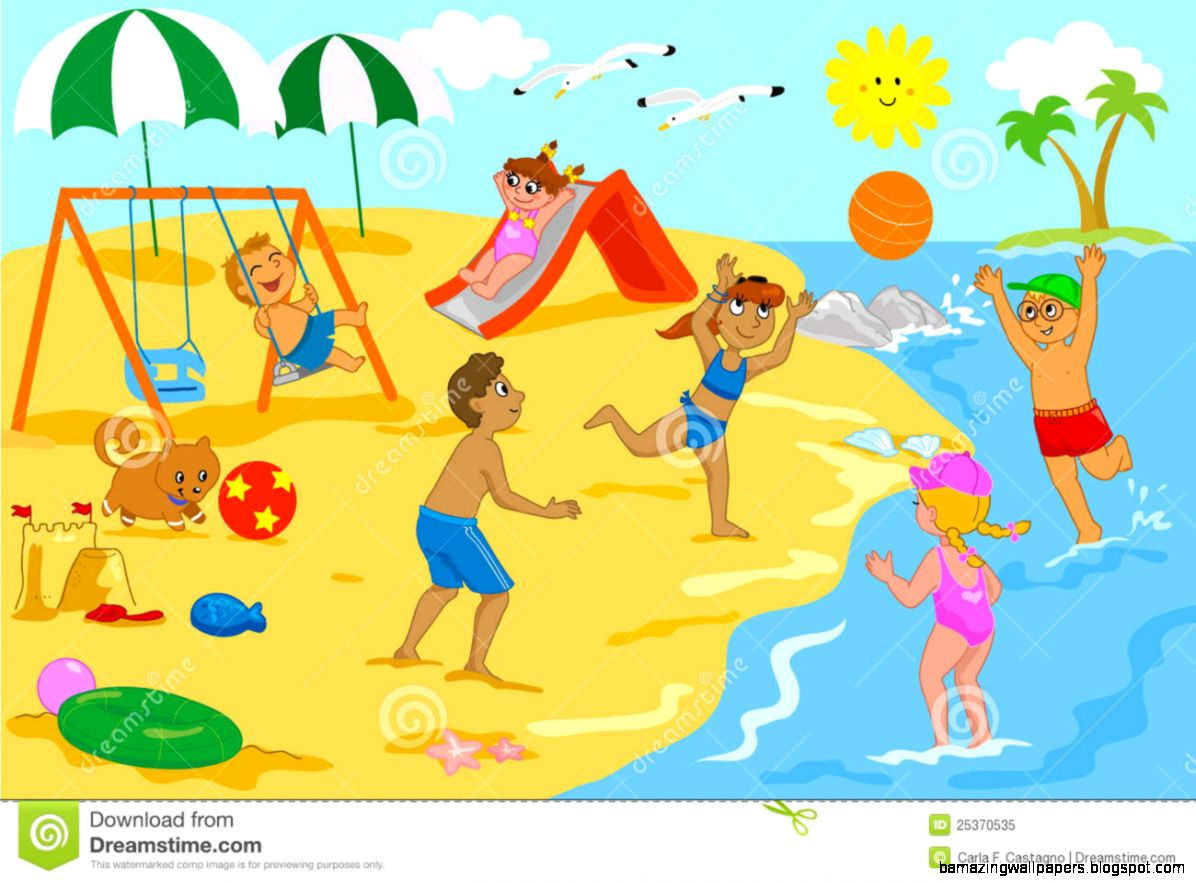 Playing At The Beach Clipart   Clipart Kid