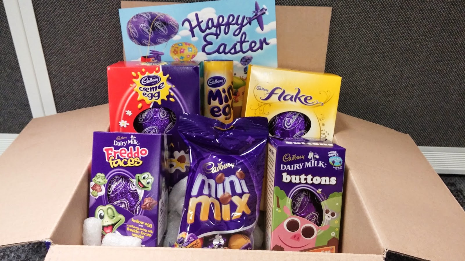Pic my food happy easter chocolate easter egg gift box by happy easter chocolate easter egg gift box by cadbury gifts direct negle Gallery