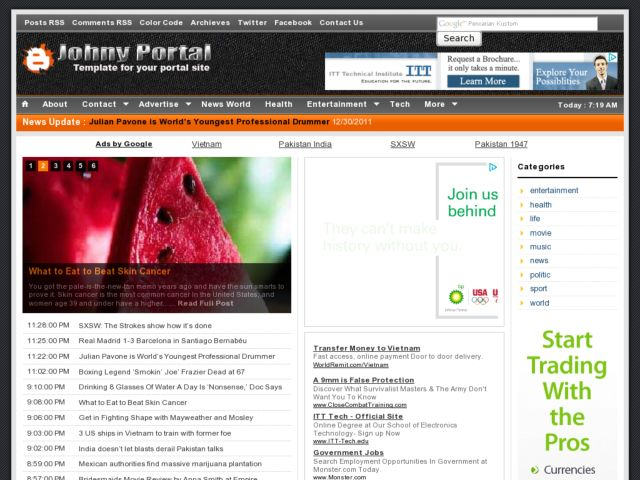 Johny Portal Blogger Template
