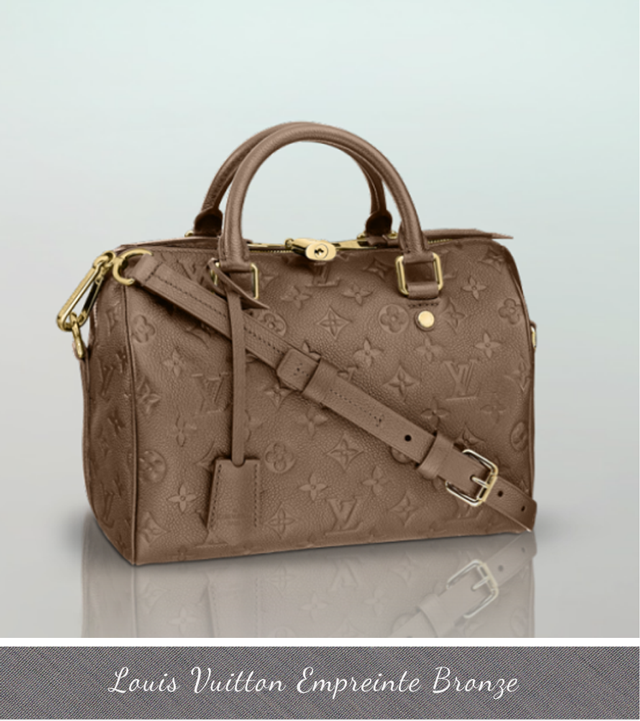 Louis Vuitton Empreinte, new colors, bags fall winter 2013, bronze empreinte
