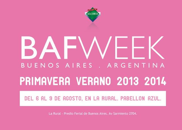 BAFWEEK PRIMAVERA VERANO 2013 - 2014