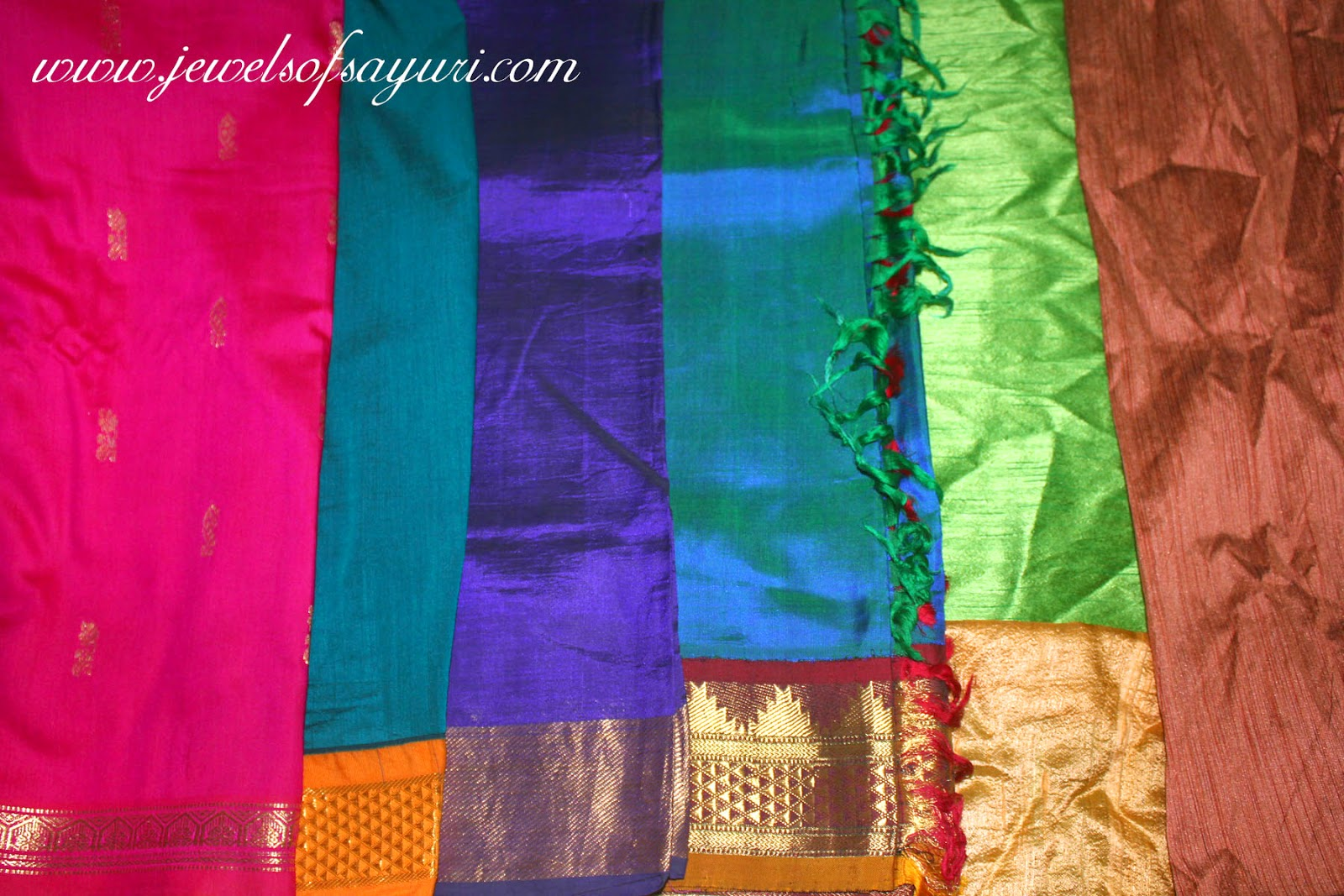 types of silk sarees