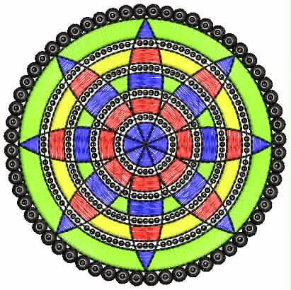 Iris borduurwerk appliekwerk ontwerp