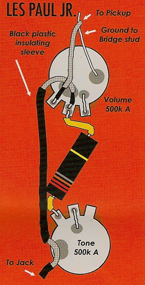 Epiphone Les Paul Jr Wiring Diagram : Snokris instruments gibson melody maker project